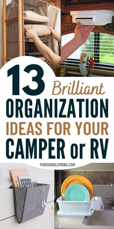 Travel Trailer Organization, Camping Organization, Organization Ideas, Motorhome Organisation, Organized Camping, Kitchen Organization, Organizing, Travel Camper, Travel Trailer Camping