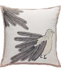 Set your couch a flutter with this whimsical bird cushion from Habitat at Argos. Set on a neutral base with a contrasting edging, this statement piece will complement any existing colour palette. £25