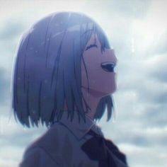 Images from SSSS. Kawaii Anime Girl, Anime Art Girl, Manga Art, Manga Anime, Anime Blue Hair, Anime Triste, Manga Poses, Sad Art, Anime Profile