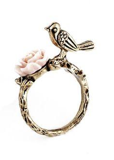 Bird Flower Ring