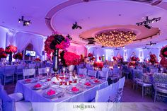 Wedding reception at the Beverly Hills Hotel.