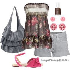 Summer Roses, created by lindsycarranza on Polyvore