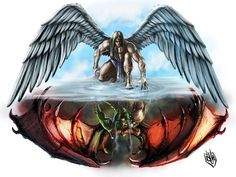 tattoo design angel vs demon - Recherche Google