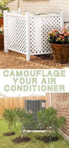 #5. Hide your air conditioner! ~ 17 Impressive Curb Appeal Ideas (cheap and easy!)