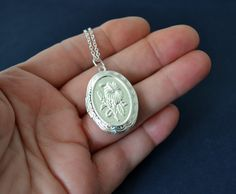 Vintage Style Locket Necklace Victorian Style by Studio10102