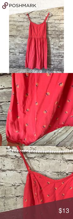 Old Navy Small Coral Sundress Floral Vguc! Old Navy Dresses Mini