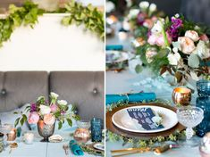 Modern Ocean Inspiration // Florals and styling by Gray Harper Event Maker // images by Jade + Matthew Take Pictures // paper goods by Lavender and Honey Designs // Vintage doorway from Savannah Vintage Rentals // The Florence - Savannah, Ga