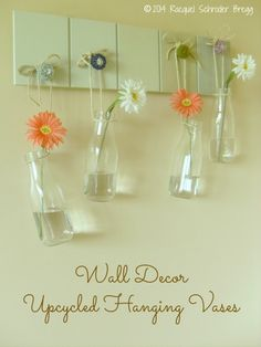 Wall Decor - Upcycled Hanging Vases