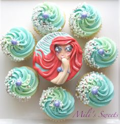 Little Mermaid cupcakes by Mili's Sweets