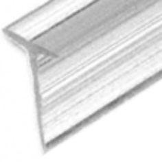 Translucent Vinyl Edge T Wipe - Shower Seal. (SDTWT2)