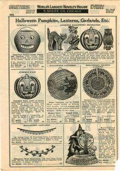 1931 advertisement 6 pg halloween hats horns costumes noisemakers decorations ebay - Ebay Halloween Decorations