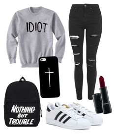 """""""Grunge #024"""" by molliethompsonn on Polyvore featuring Topshop, adidas, Casetify and MAC Cosmetics"""