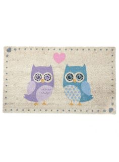 Love Owls Coir Door Mat @ rosefields.co.uk