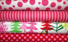 4 Fat Quarters FUNKY CHRISTMAS Santa Yule by spiceberrycottage, $10.95
