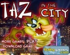 Игра Таз в городе - приключения на крыше - http://allegrais.com/games/collecting_games/igra-taz-v-gorode-priklyucheniya-na-kryshe.html
