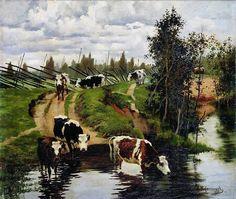 Alexei Stepanov, Watering Cows, 1908