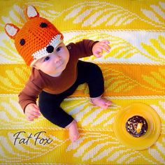Crochet Fox Hat Baby Child Winter Cap Christmas Present by FatFoxDesigns on Etsy https://www.etsy.com/listing/211044166/crochet-fox-hat-baby-child-winter-cap