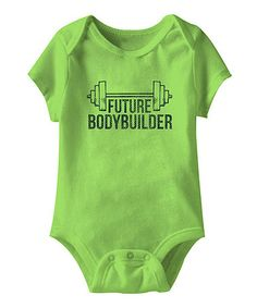 Loving this Key Lime 'Future Bodybuilder' Bodysuit - Infant on #zulily! #zulilyfinds