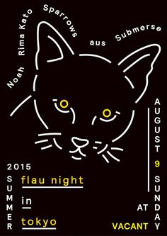 Poster for Flau night in Tokyo