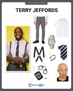 Open a tub of yogurt and do sit ups to pass the time, dressed as Terry Jeffords from the TV show Brooklyn Nine-Nine. Fox Halloween, Clever Halloween Costumes, Halloween Costume Contest, Couple Halloween, Halloween 2020, Vintage Halloween, Homecoming Spirit Week, Cop Costume, Twin Baby Girls