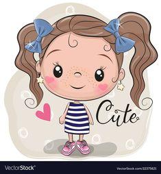Cute Girl on a beige background. Cute Cartoon Girl on a beige background stock illustration Cartoon Cartoon, Cute Cartoon Girl, Cartoon Drawings, Cute Drawings, Cartoon Characters, Beige Background, Girl Background, Cute Illustration, Doodle Art