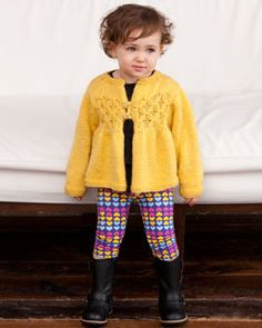 Adorable smocked cardigan for your favorite little miss. Shown in Bernat Sheep(ish) by Vickie Howell.
