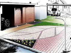 Leaf paving design - very effective.