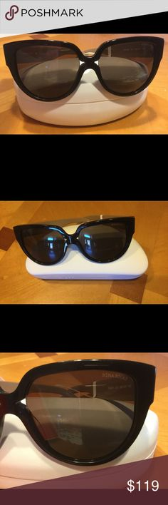 NWB Authentic Nina Ricci Oversize Sunglasses Black Authentic Nina Ricci Oversize Sunglasses. NR3249. Brand New w/original box and tag. Black frame w/ soft brown/tan temple. 56-16-140. Mint! Nina Ricci Accessories Sunglasses