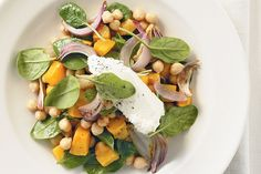 Honey sweetens up this gathering of golden pumpkin, juicy chickpeas and soft ricotta.