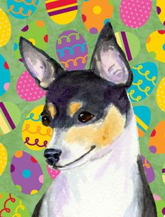Chihuahua Easter Eggtravaganza 2-Sided Garden Flag
