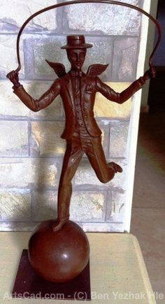 Bronze Sculpture Figurine Man Dancin - BENBENART