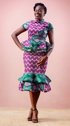 Call, SMS or WhatsApp if you want this style, needs a skilled tailor to hire or you want to expand more on your fashion business. African Dresses For Women, African Attire, African Wear, African Fashion Dresses, African Women, African Print Skirt, African Print Dresses, African Inspired Fashion, African Print Fashion