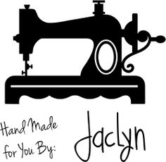 Hand Made Vintage Sewing Machine Rubber Stamp image