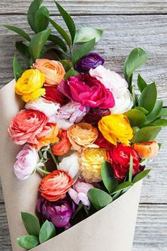 Beautiful shades of ranunculus