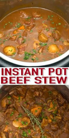 Ground Beef Recipes Discover Ultimate Instant Pot Beef Stew - Sweet and Savory Meals Ultimate Instant Pot Beef Stew is made in a fraction of the time a stovetop or slow cooker version would take. Tender beef and veggies in a hearty sauce! Instant Pot Beef Stew Recipe, Best Instant Pot Recipe, Instant Pot Dinner Recipes, Easy Soup Recipes, Beef Recipes, Cooking Recipes, Beef Tips, Recipes For Stew Meat, Instant Pot Pot Roast