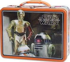NEW ~ Walt Disney Licensed Product Disney Star Wars Star Wars Large Embossed Tin Lunch Box-Droids-Brand New! Embossed front lid Great for lunches or toy storage Strong clasp protects your valuables Dimensions: x 6 x inches Features characters and B Retro Lunch Boxes, Tin Lunch Boxes, Metal Lunch Box, Tin Boxes, Lunch Bags, Star Wars Gifts, Star Wars Toys, Star Wars Lunch Box, Star Wars Jewelry