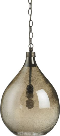 Glint Pendant Lamp in Chandeliers, Pendants | Crate and Barrel  I love the texture