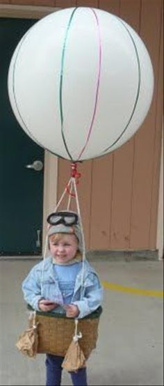 Hot Air Balloon - 60 Fun and Easy DIY Halloween Costumes Your Kids Will Love Leichtman Knapp Easy Homemade Halloween Costumes, Cute Halloween Costumes, Halloween Crafts, Happy Halloween, Halloween Halloween, Costumes Kids, Creative Costumes, Zombie Costumes, Monster Costumes