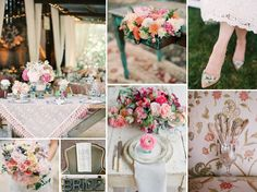 {south carolina vintage} vintage and southern wedding with pink and antique details