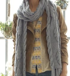 426240df383634 Etole à franges motif feuilles d'automne : Echarpe, foulard, cravate par  aufildesanes