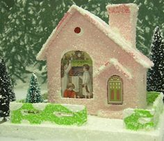 Glitter House - pdf template and instructions on how to build