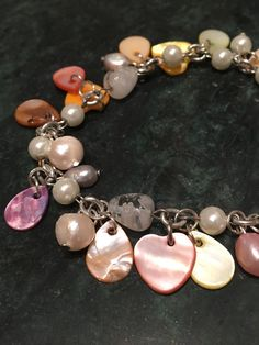 Colourful Bracelet witn Sea Shells and Pearls! via CHRISTINA STEFFENSEN. Click on the image to see more!