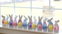 Cute little wooden bunnies, hinged together & in the eggs you have 12 scriptures to count down until Easter.