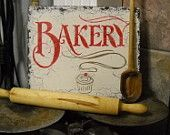 BAKERY with Cupcake Shabby Cottage Kitchen Signs 10 x 12