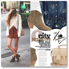 Street Style by black-fashion83 on Polyvore featuring Étoile Isabel Marant, Yves Saint Laurent, stylemoi and sudeboots