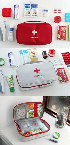 I always feel safe having the Large First Aid Pouch around. This portable first aid kit has a vivid and lovely design, and the durable case keeps all my first aid supplies safely protected inside. I can easily organize my supplies inside thanks to all the pockets this pouch provides. I always carry this pouch whenever I am traveling because well, like they all say, safety first!