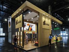 LEÃO_APAS_OPÇÃO 02 on Behance Exhibition Stall, Exhibition Booth Design, Exhibition Ideas, Exhibit Design, Expo Stand, Pavilion Design, Bakery Design, Gas Station, Coffee Shop
