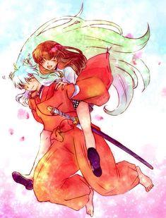 Inuyasha x Kagome Inuyasha Fan Art, Inuyasha And Sesshomaru, Kagome And Inuyasha, Inuyasha Funny, Miroku, Kagome Higurashi, Fanarts Anime, Anime Manga, Anime Art
