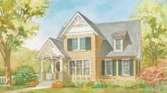 18 Small House Plans | Are you looking for small house plans brimming with charm and comfort for any size family? Here's a select group of house plans with less than 1,800 square feet of heated, living space
