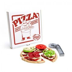 Green Toys Pizza Parlor  Mama Mia! The Green Toys Pizza Parlor is open for business. Pizza lovers can pretend and play chef and server by taking orders, creating custom pizzas, and serving guests. This colorful 27-piece set features four slices that can be stacked with toppings galore to dish up any personal pie.